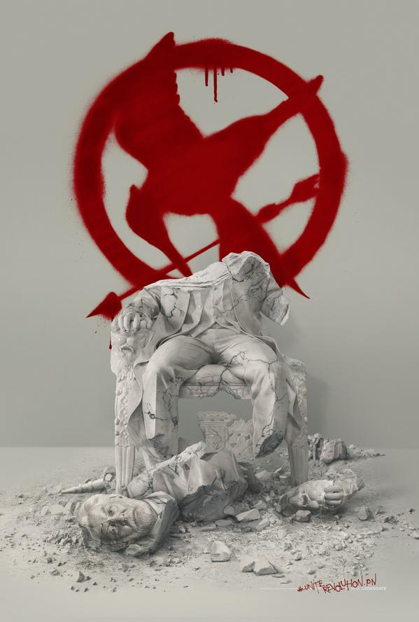 Hunger Games Mockingjay Part 2 Poster Shows Decapitated Statue Of