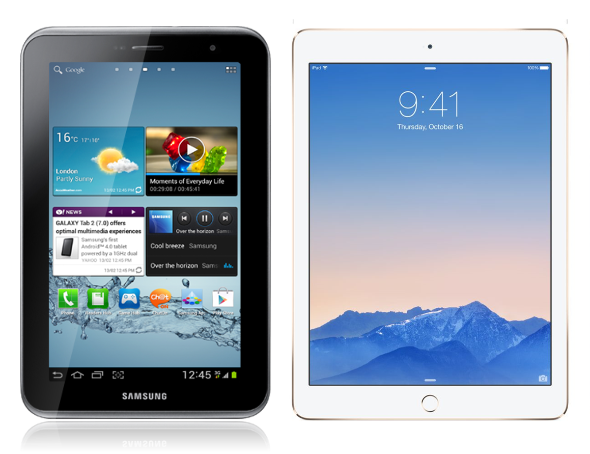 Samsung Galaxy Tab S2 Vs IPad Air 2 Better Screen