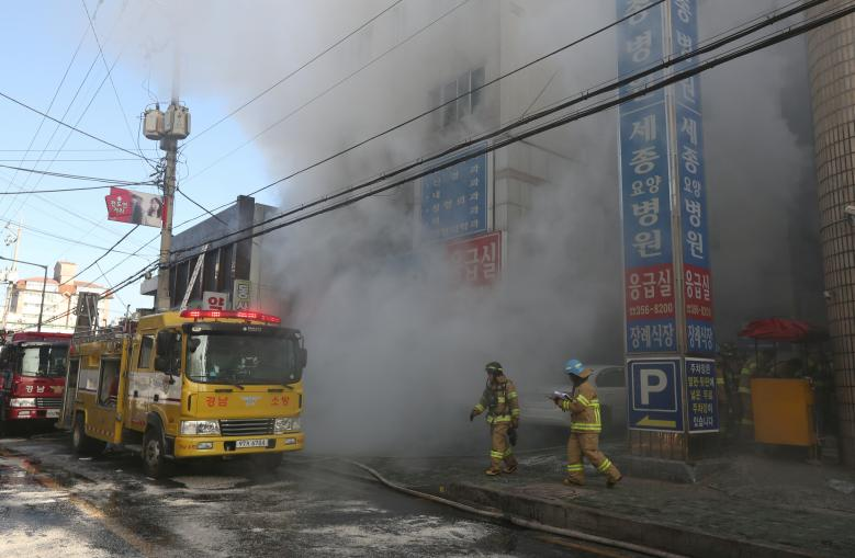 South Korea's Moon visits hospital fire scene, agonises over series of disasters